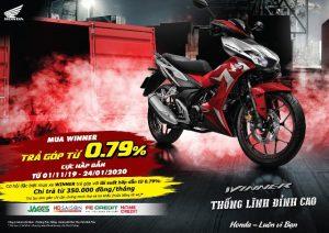 Cơ hội sở hữu Honda WINNER 150 ngay trong tầm tay- Chương Trình Mua Xe Trả Góp Với Lãi Suất Hấp Dẫn Từ 0.79%